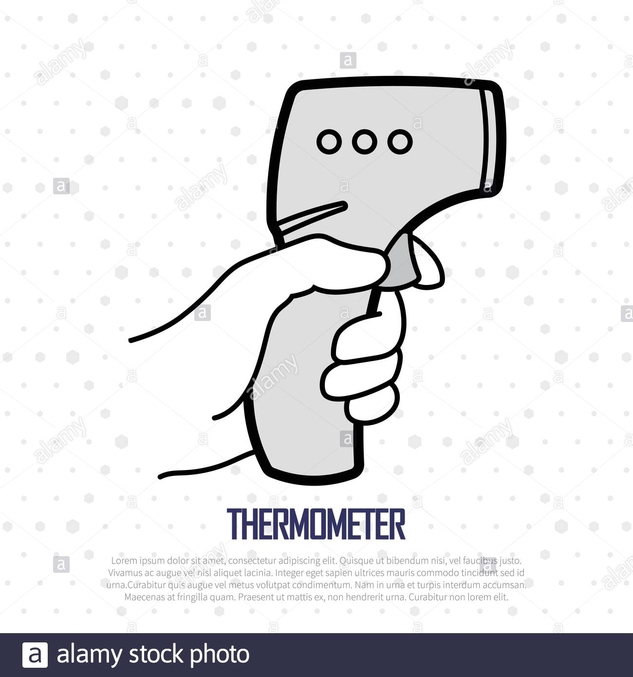 Electronic Thermometer For Temperature Measurement In Patients With Fever Stock Vector Image Art Alamy Definizione e significato del termine termometro. https www alamy com electronic thermometer for temperature measurement in patients with fever image345151843 html