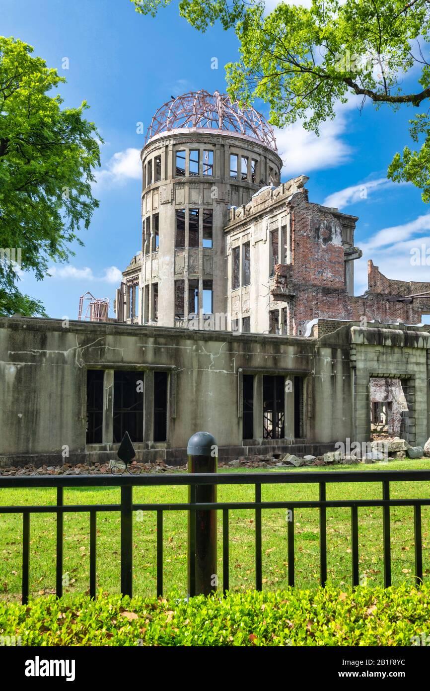 Hiroshima Japan. Hiroshima Peace Memorial (Genbaku Dome) Stock Photo