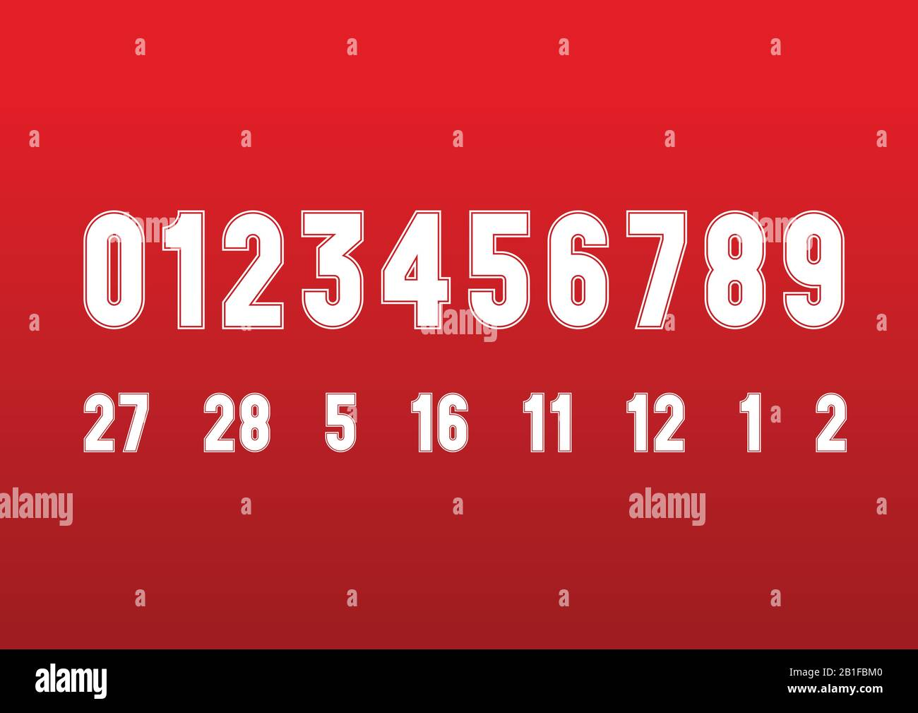 Vintage Style Ferrari Formula 1 Race Numbers Font On The Red Background Vector Graphics Stock Vector Image Art Alamy
