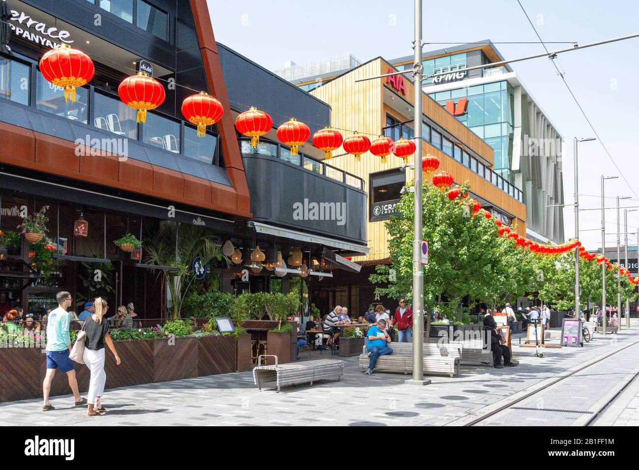 Bars And Restaurants On The Terrace Oxford Terrace Christchurch Central City Christchurch Canterbury Region New Zealand Stock Photo Alamy