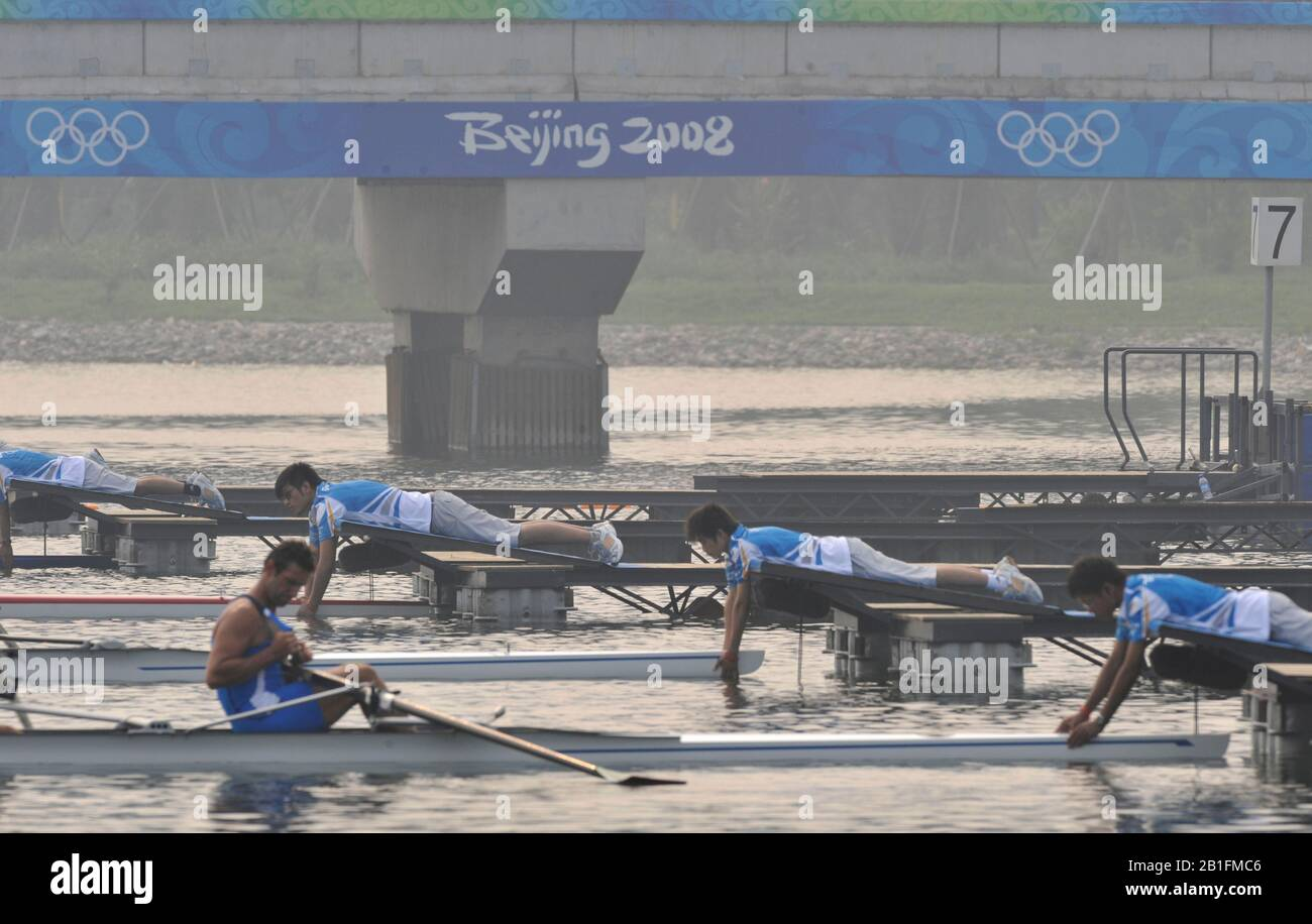 Shunyi, CHINA. 2008 Olympic Regatta,  Saturday, 09.08.2008  [Mandatory Credit: Peter SPURRIER, Intersport Images] Stock Photo