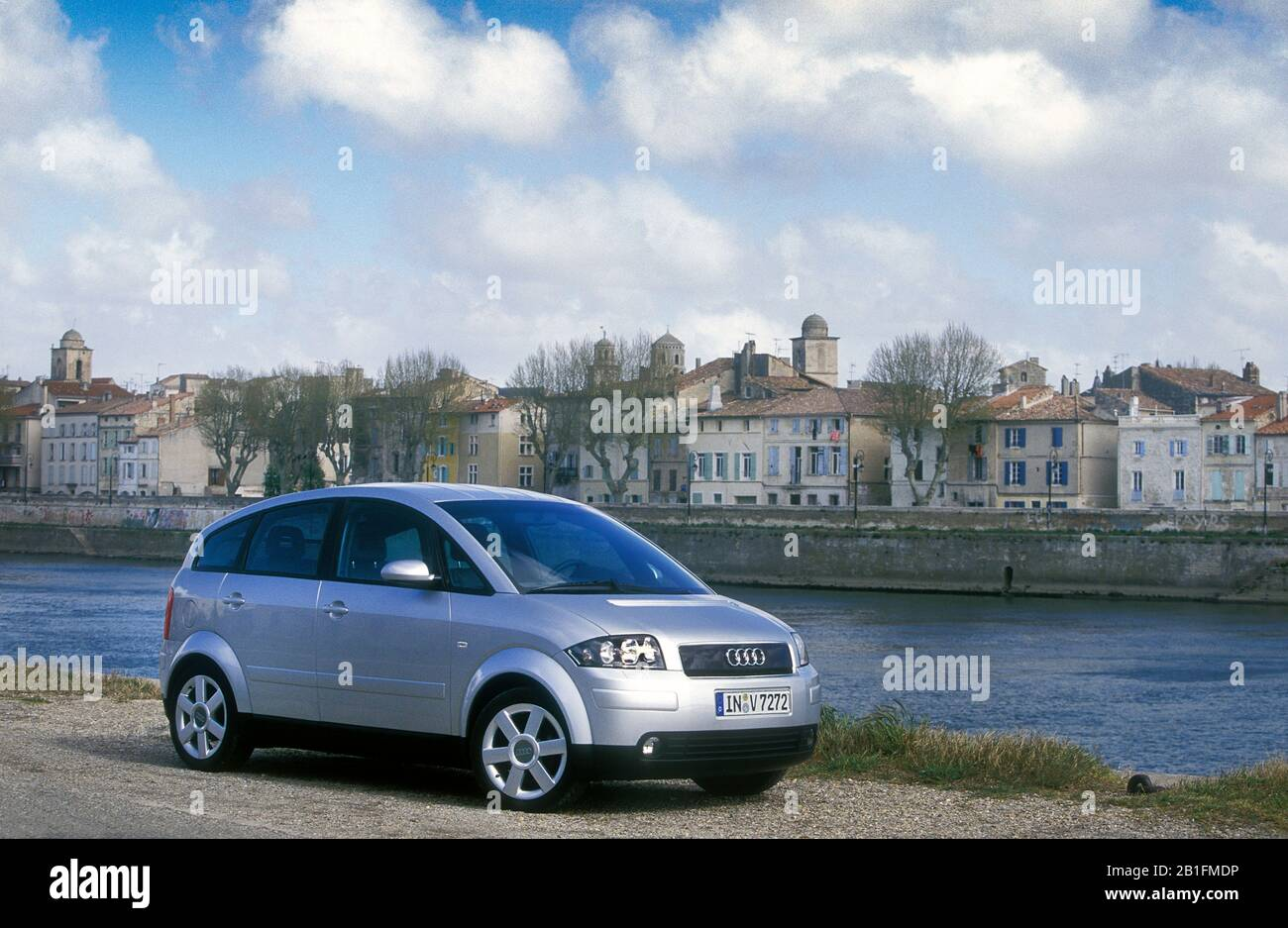 Audi A2 in the South of France 2000 Stock Photo