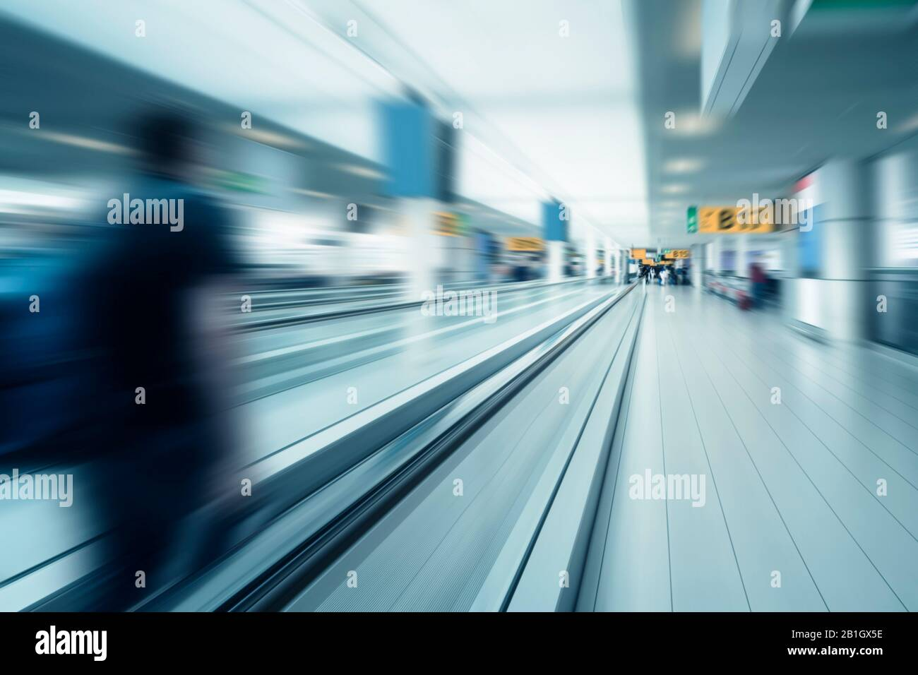 Blurry picture of an airport gate - globalisation Stock Photo