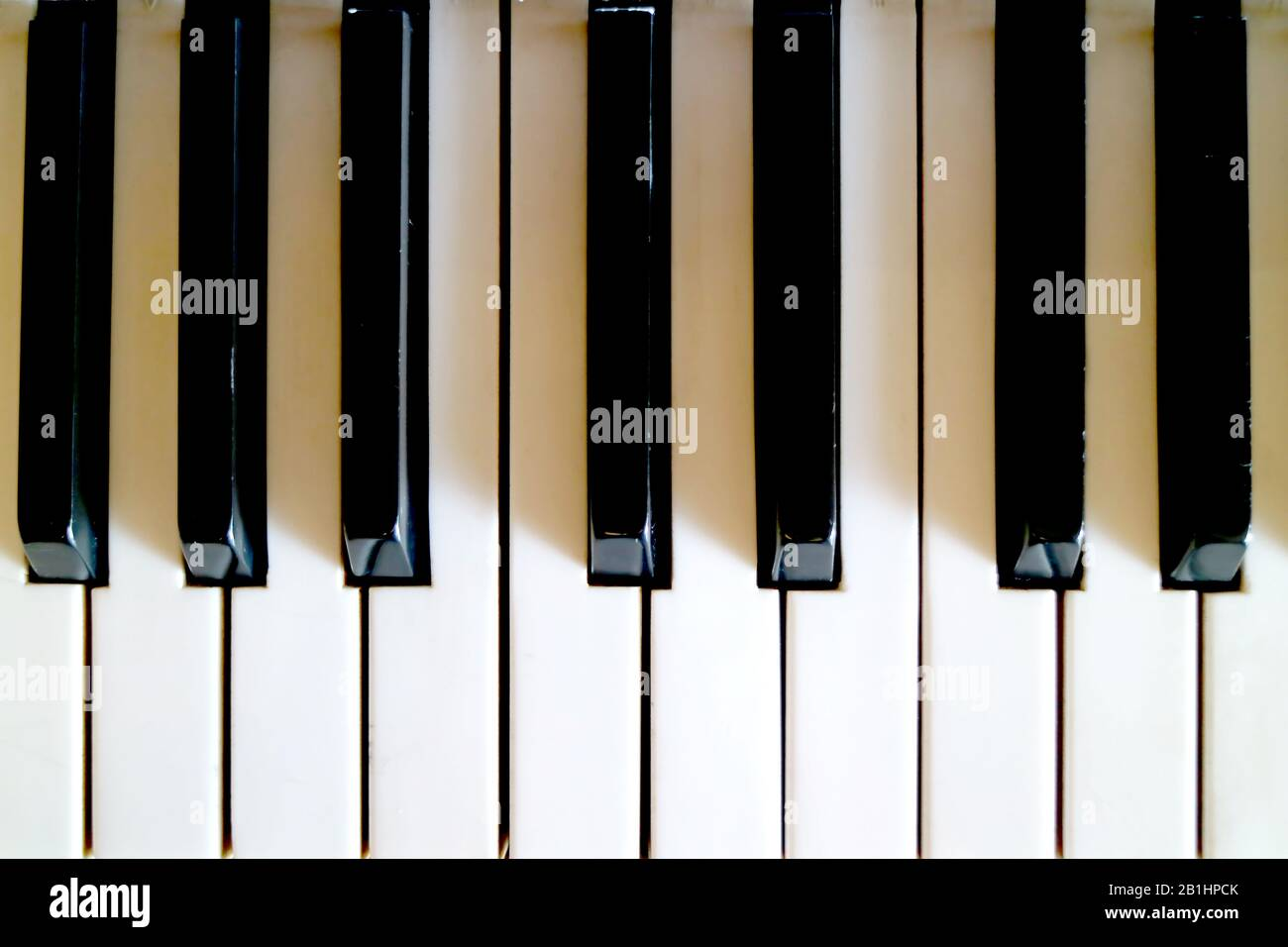 Top View Of The Piano S Keyboard For Background Or Banner Stock Photo Alamy