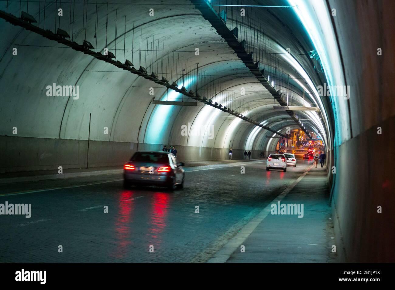 Traforo Umberto (tunnel) in Rome, Italy Stock Photo