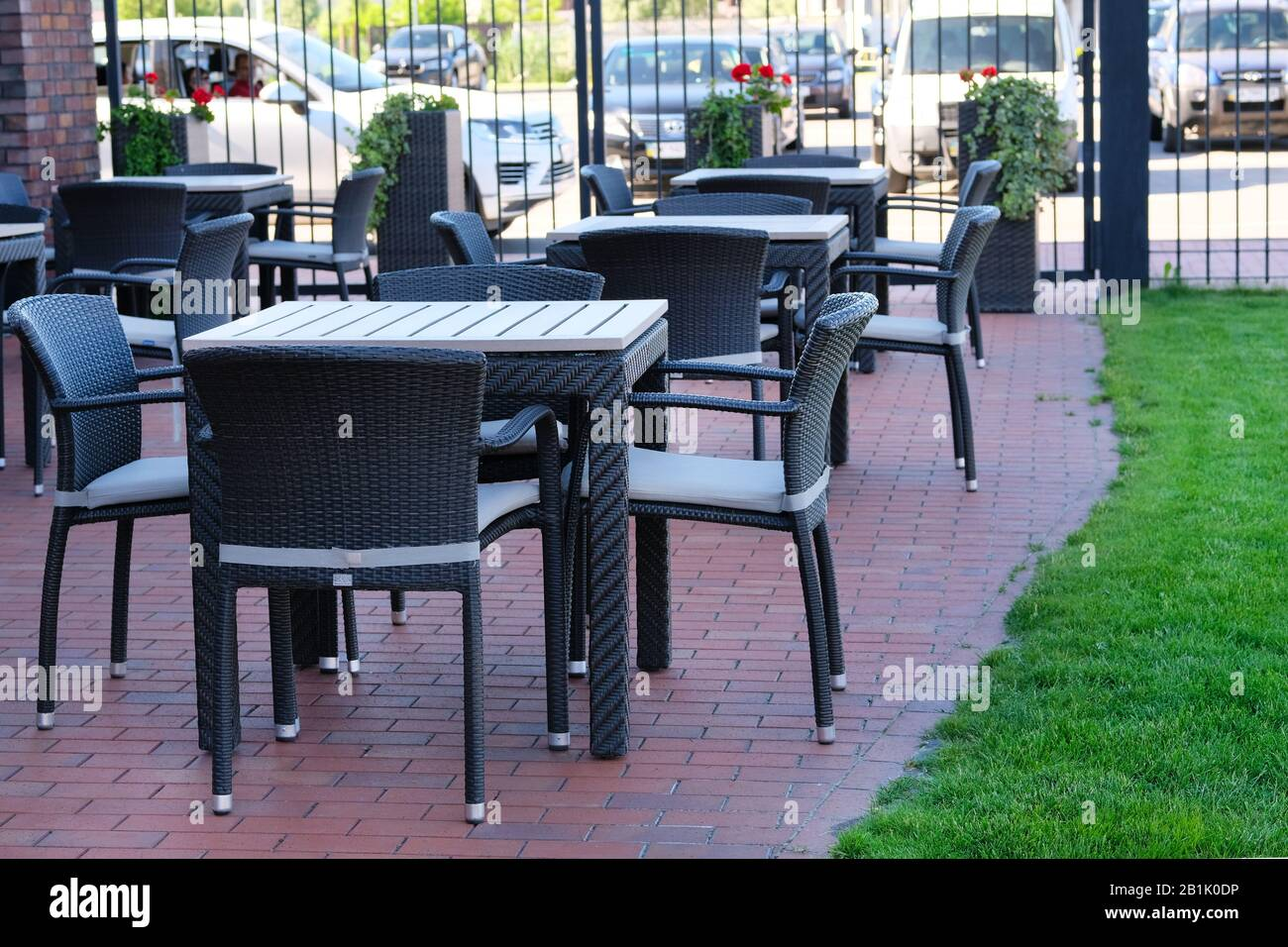 Outdoor Terrace Table Chairs High Resolution Stock Photography And Images Alamy