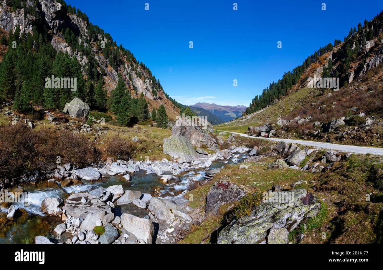 Mountain landscape, Wildgerlostal, Zillertal Alps, Hohe Tauern National Park, Krimml, Pinzgau, Salzburg Province, Austria Stock Photo