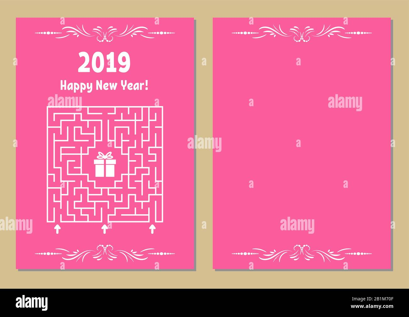 Color Christmas Greeting Card With A Square Maze Find The Right Path To The Gift Game For Kids Puzzle For Children Maze Conundrum Vector Illustra Stock Vector Image Art Alamy