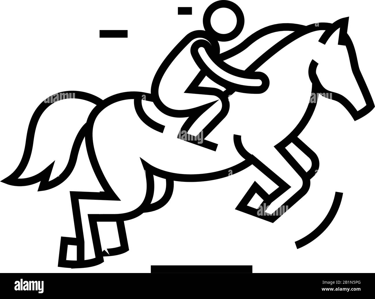Horse Riding Line Icon Concept Sign Outline Vector Illustration Linear Symbol Stock Vector Image Art Alamy