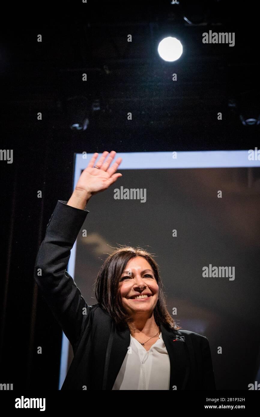 Paris 26th Feb 2020 Paris Mayor And Socialist Party Candidate