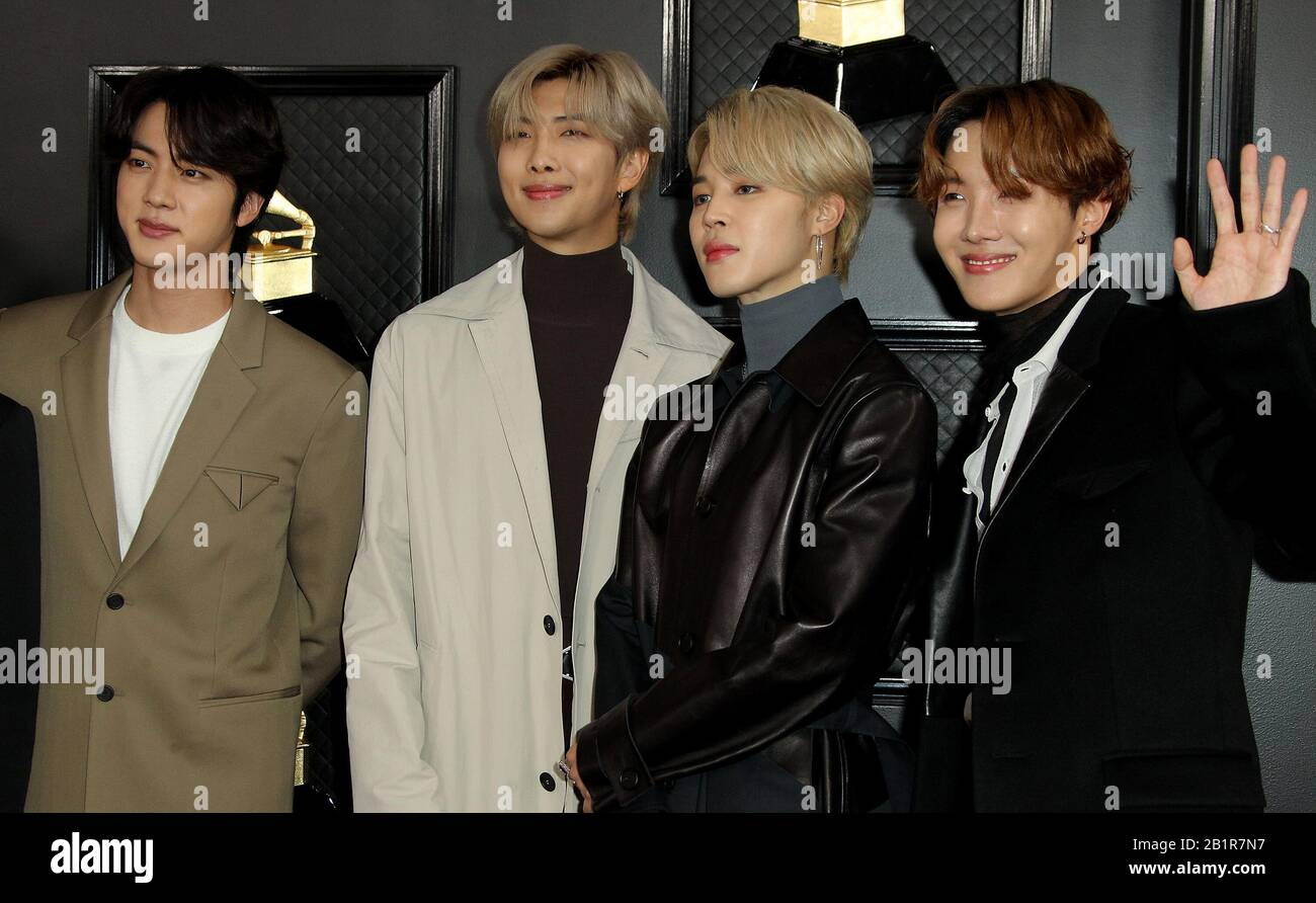 bts grammys her high resolution stock photography and images alamy https www alamy com 62nd annual grammy awards arrivals 2020 held at the staples center in los angeles california featuring jin rm jimin j hope of korean boy band bts where los angeles california united states when 26 jan 2020 credit adriana m barrazawenn image345332995 html