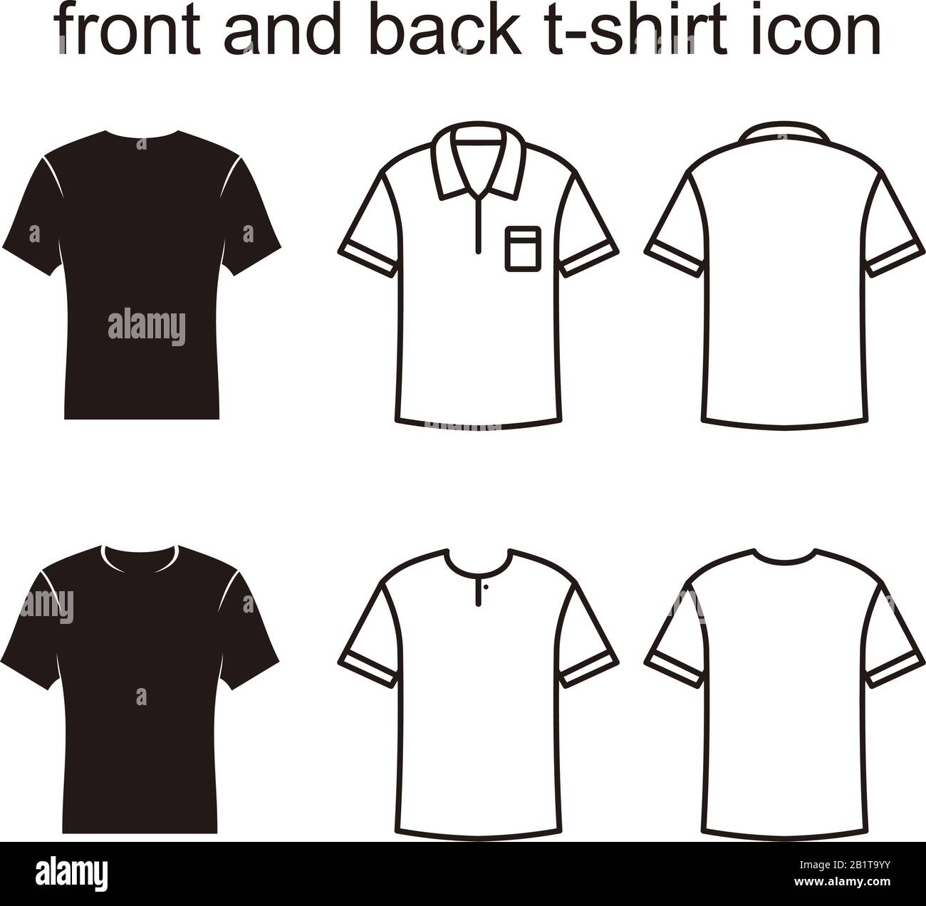 front and back t shirt icon vector illustration for graphic and web design stock vector image art alamy https www alamy com front and back t shirt icon vector illustration for graphic and web design image345356703 html
