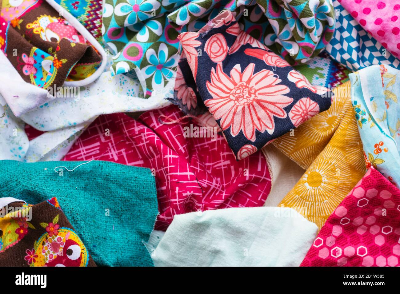 Collection Of Fabric Scraps Stock Photo Alamy