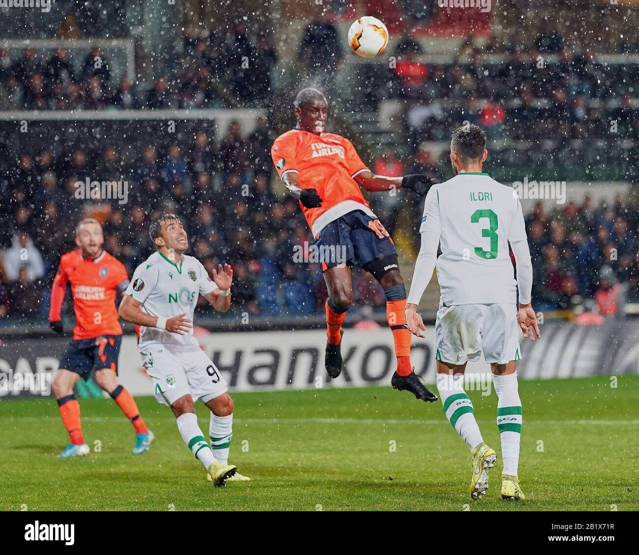 demba ba high resolution stock photography and images alamy https www alamy com february 27 2020 demba ba of istanbul basaksehir fk heading the ball during istanbul baakehir and sporting cp on baakehir fatih terim stadium istanbul turkey kim pricecsm image345398307 html