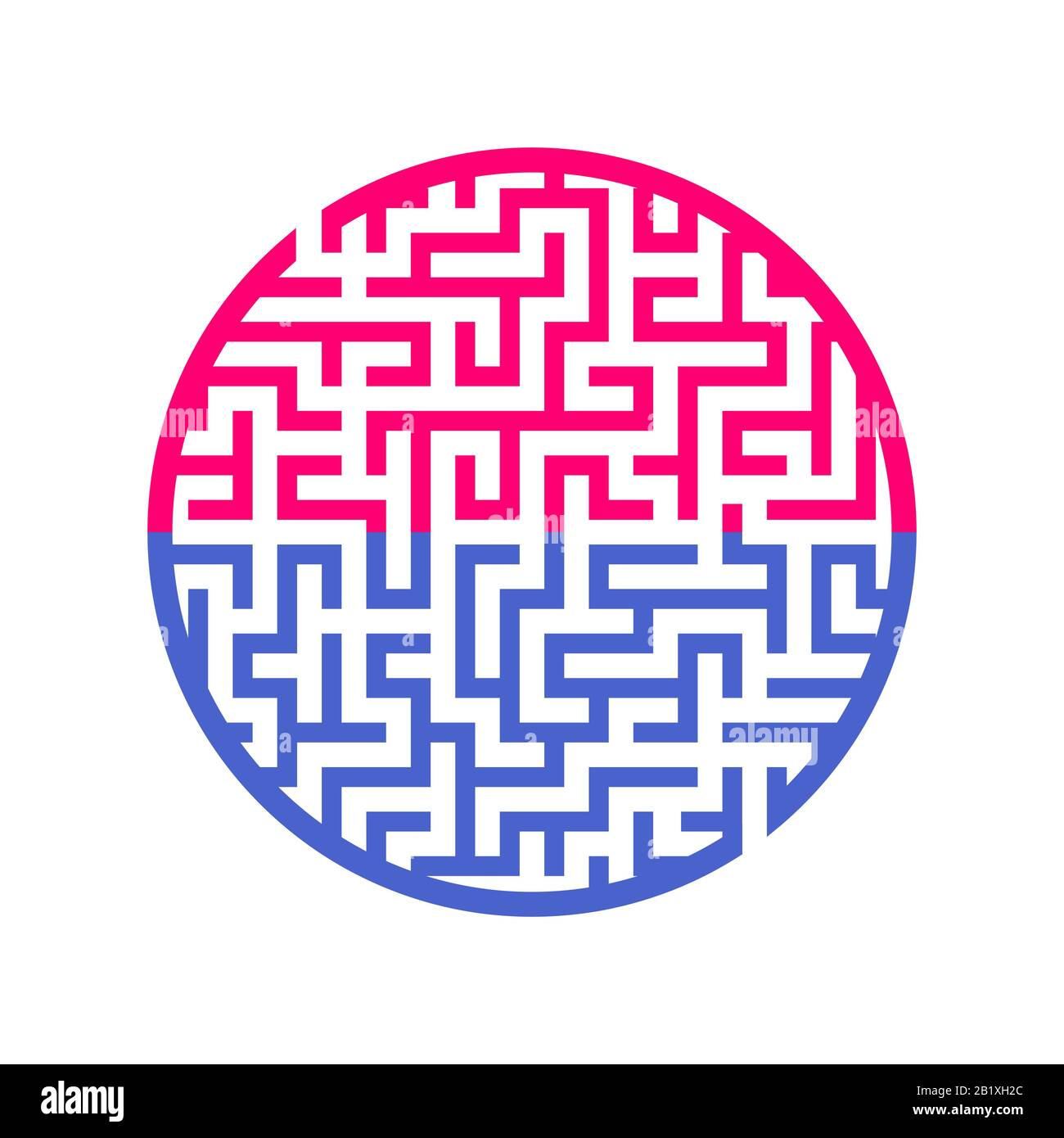 Color Round Maze Painted In Different Colors Game For Kids And Adults Puzzle For Children Labyrinth Conundrum Flat Vector Illustration Isolated O Stock Vector Image Art Alamy