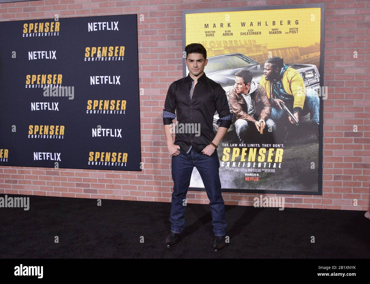 Los Angeles Usa 27th Feb 2020 Diego Tinoco Arrives At The Netflix S Spenser Confidential Premiere Held At The Regency Village Theatre In Westwood Ca On Thursday February 27 2020 Photo By Sthanlee