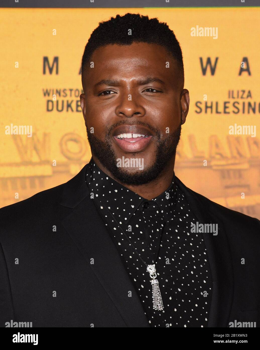 February 27 2020 Westwood Ca Usa Winston Duke Attends Premiere Of Netflix S Spenser Confidential At The Regency Village Theatre Credit Image C Billy Bennight Zuma Wire Stock Photo Alamy