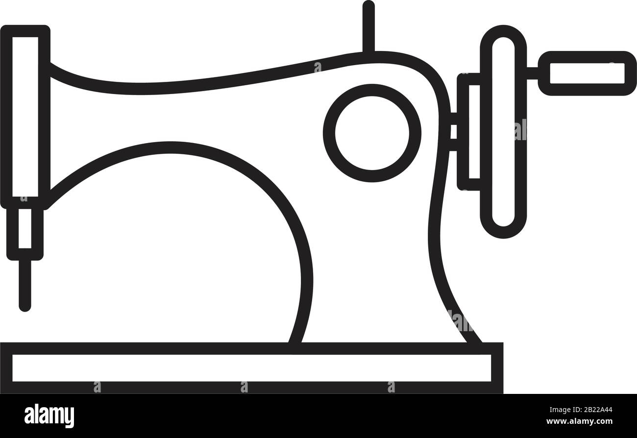 sewing machine icon template black color editable sewing machine icon symbol flat vector illustration for graphic and web design 2B22A44