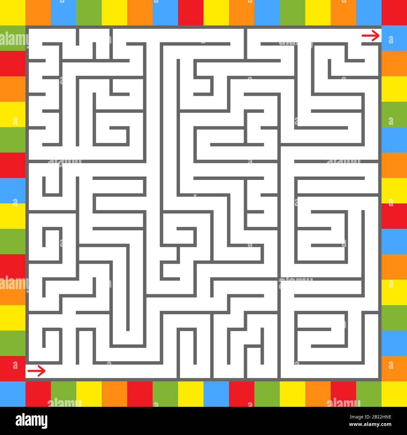 Square Color Labyrinth An Interesting Game For Children Simple Flat Vector Illustration Isolated On White Background Stock Vector Image Art Alamy