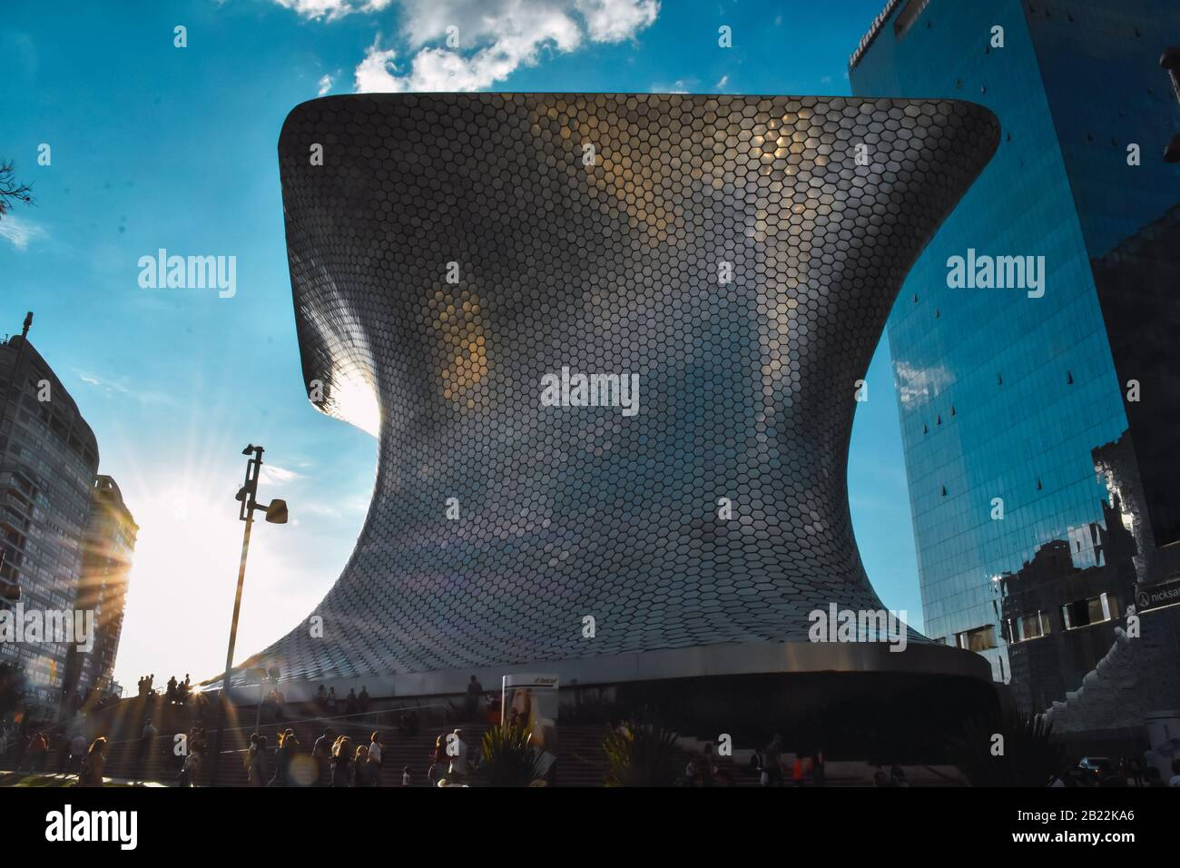 Mexico City, Mexico; October 7 2019:The futuristic architecture of the soumaya museum in Mexico Stock Photo