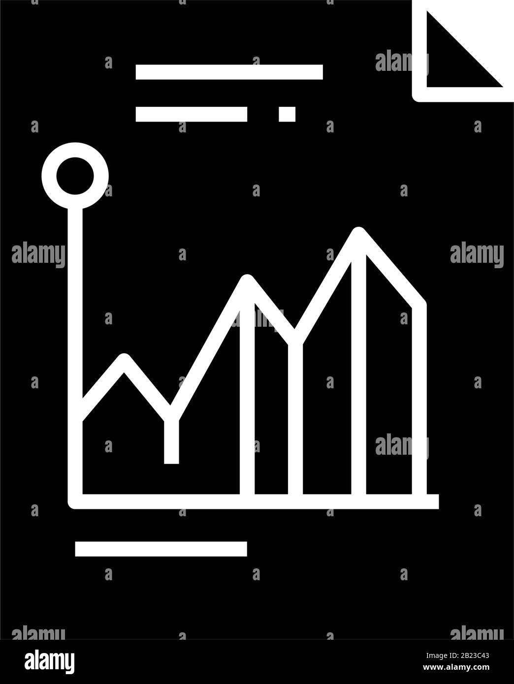 Futures Market Black Icon Concept Illustration Vector Flat