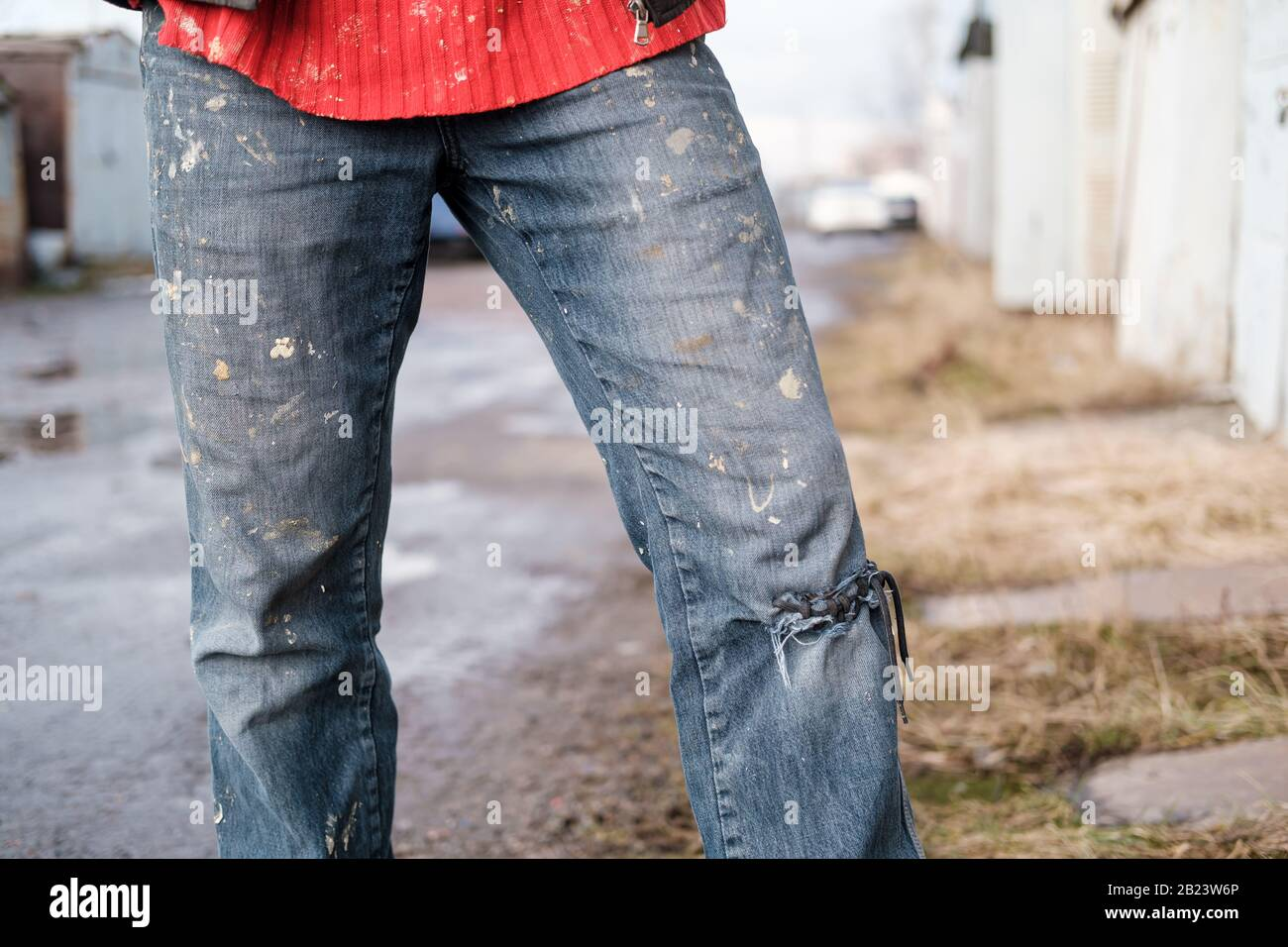 Dirty Jeans High Resolution Stock Photography And Images Alamy