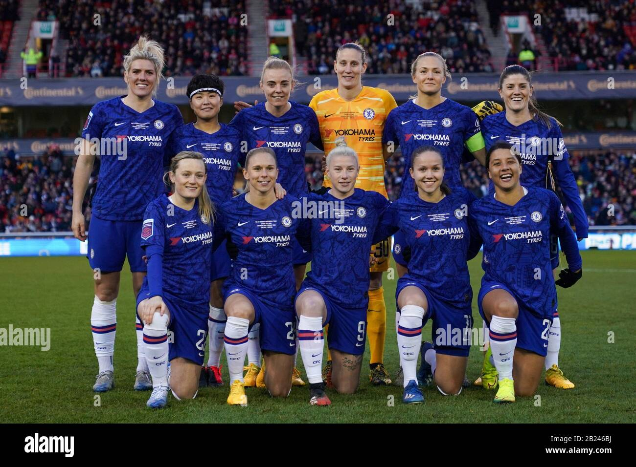 Nottingham England Feb 28th Starting Xi Of Chelsea During The 2020 Fa Women Continental Tyres League