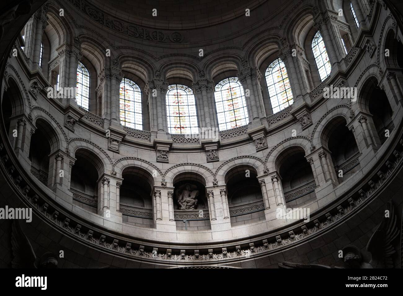 View inside the main dome of Basilica of the Sacred Heart of Paris (Sacre-Coeur), Paris, France Stock Photo