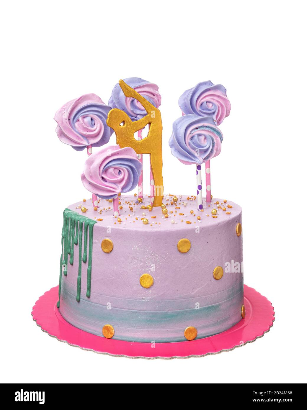 Awesome A Birthday Cake For A Girl Gymnast Stock Photo 345540336 Alamy Birthday Cards Printable Trancafe Filternl