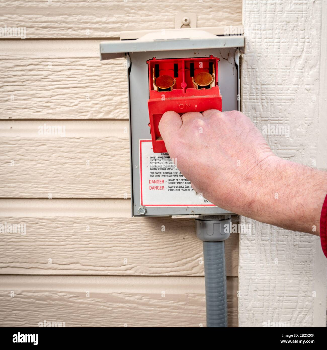 [SCHEMATICS_4HG]  Red fuse box is removed from a power box from a home utility Stock Photo -  Alamy | Red Fuse Box |  | Alamy