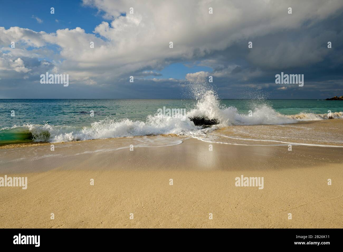 St Ives Cornwall, South West, UK, Artistic Cornwall, Cornish Colours, White Sand, Blue seas Stock Photo