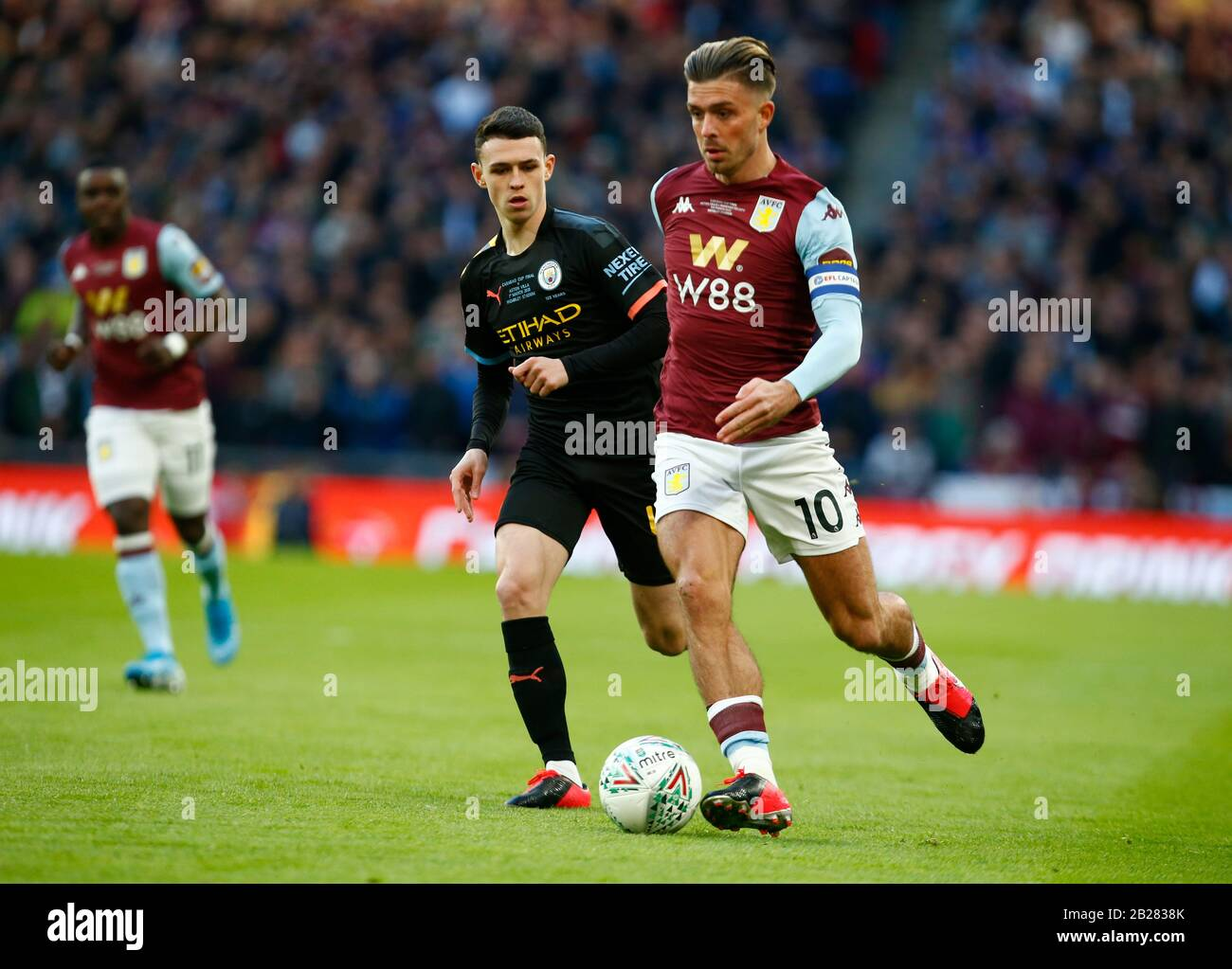 LONDON, UNITED KINGDOM. MARCH 01 Jack Grealish of Aston Villa during Carabao Cup Final between Aston Villa and Manchester City at Wembley Stadium, London, England on 01 March 2020 Credit: Action Foto Sport/Alamy Live News Stock Photo