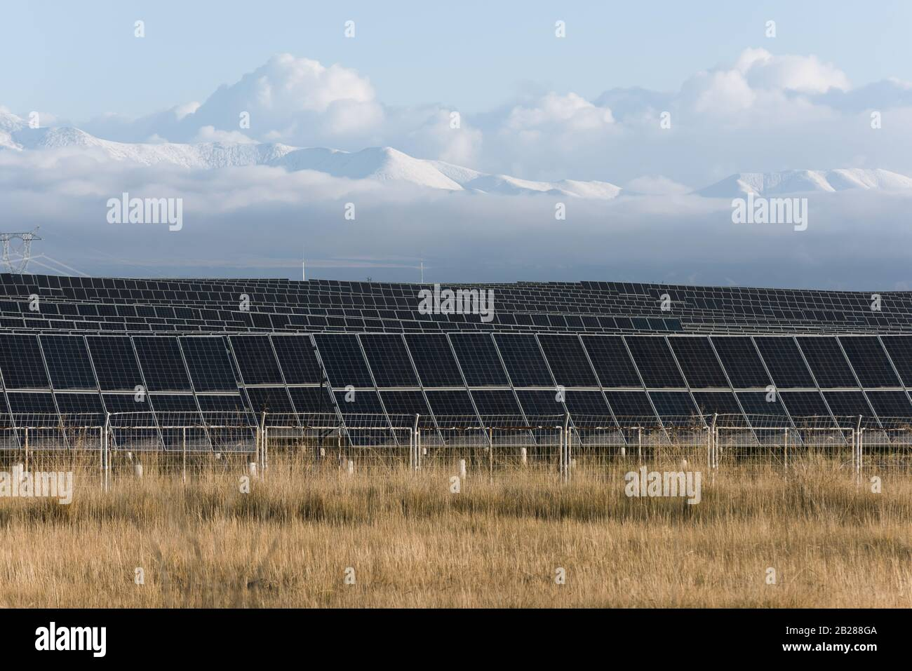 view of a photovoltaic power station Stock Photo