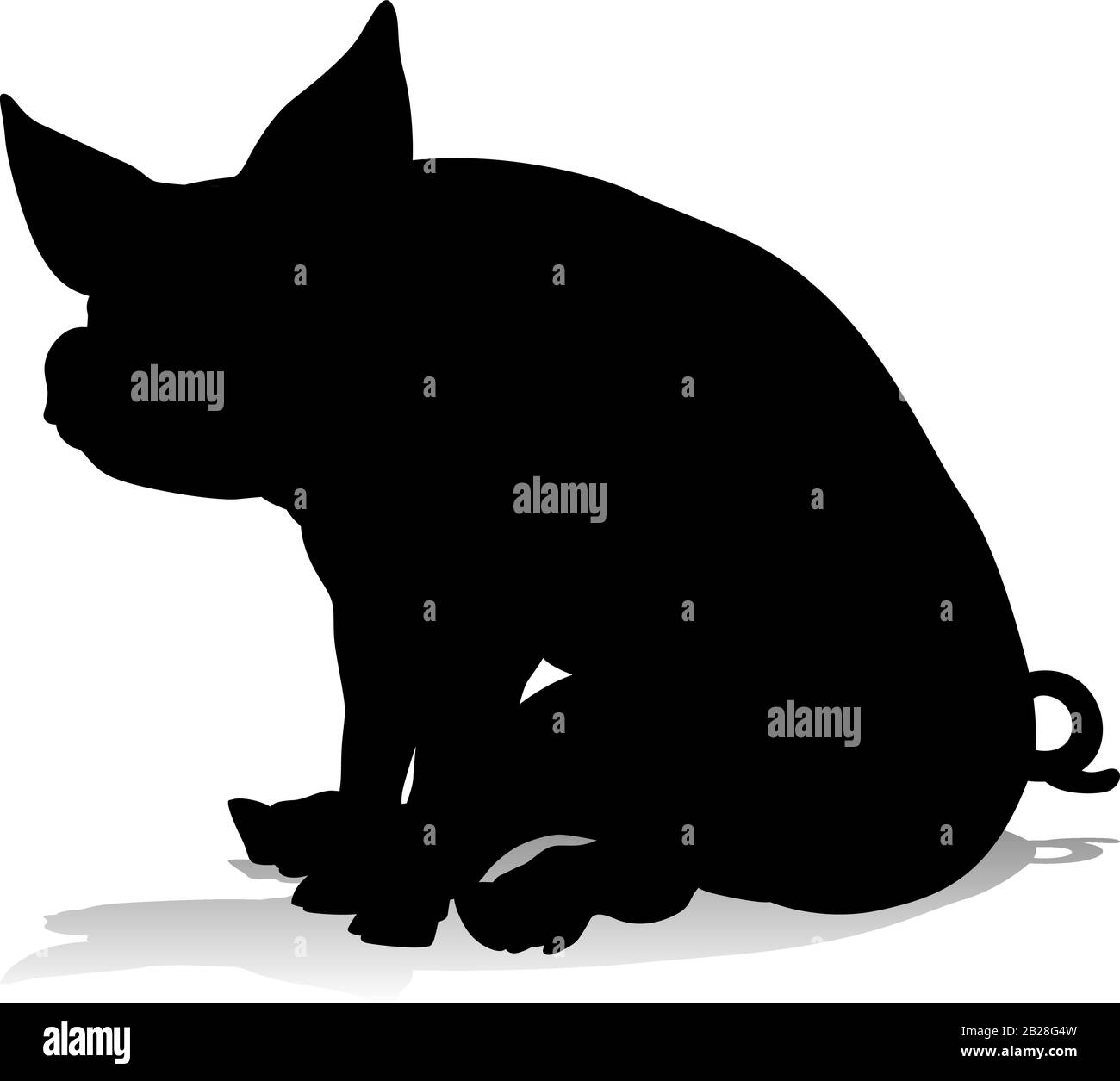 Pig Silhouette Farm Animal Stock Vector Image Art Alamy High quality pig silhouette gifts and merchandise. https www alamy com pig silhouette farm animal image345624969 html