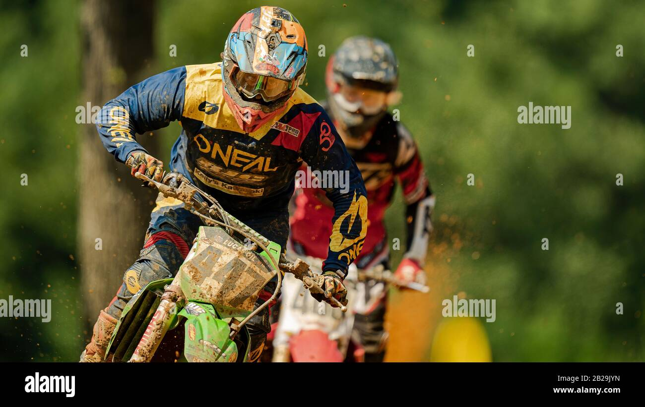 Motocross Champion Stock Photo
