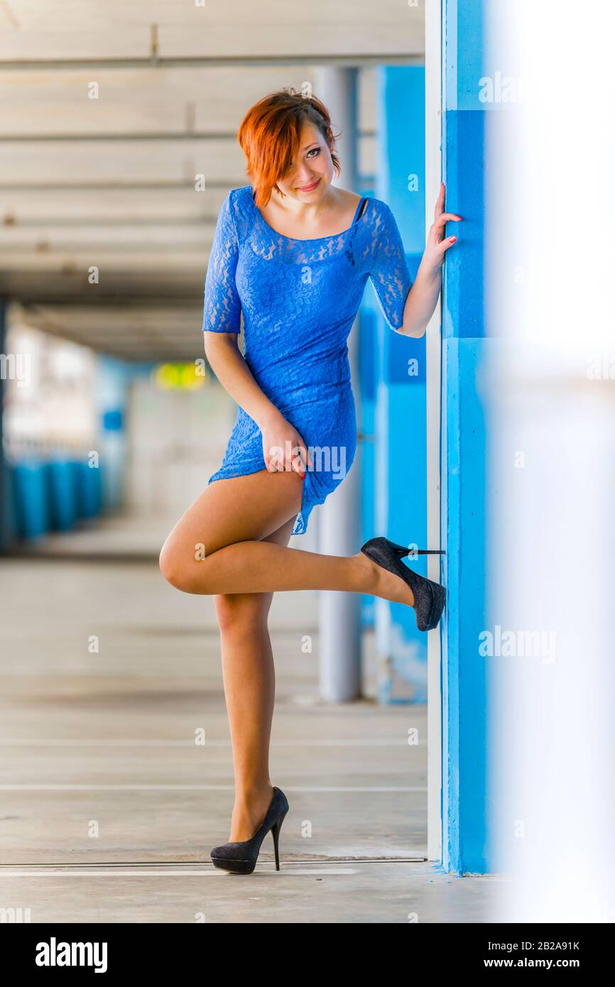 Leg show legs and high-heels Stock Photo