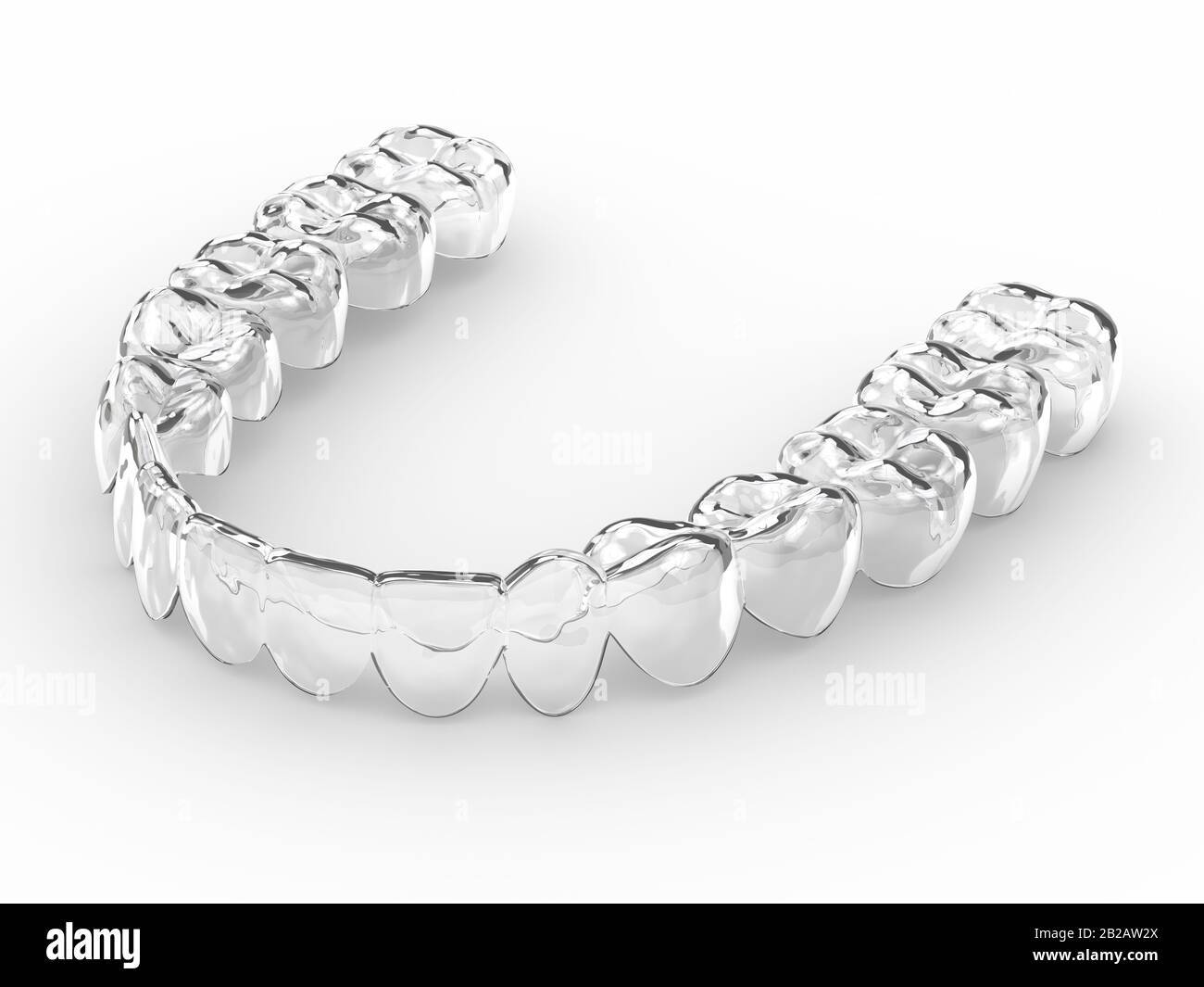 3d Render Of Invisalign Removable And Invisible Retainer Over