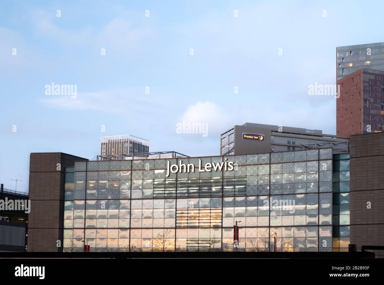 External Frontage of the John Lewis flagship store at Westfield Stratford, East london, UK Stock Photo