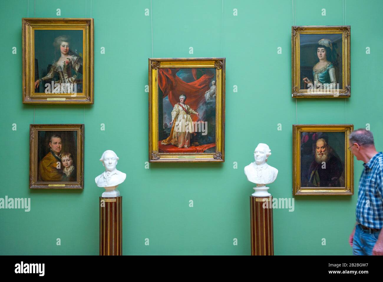 Moscow, Russia, Masterpieces of the Russian art in the Tretjakov Gallery Stock Photo