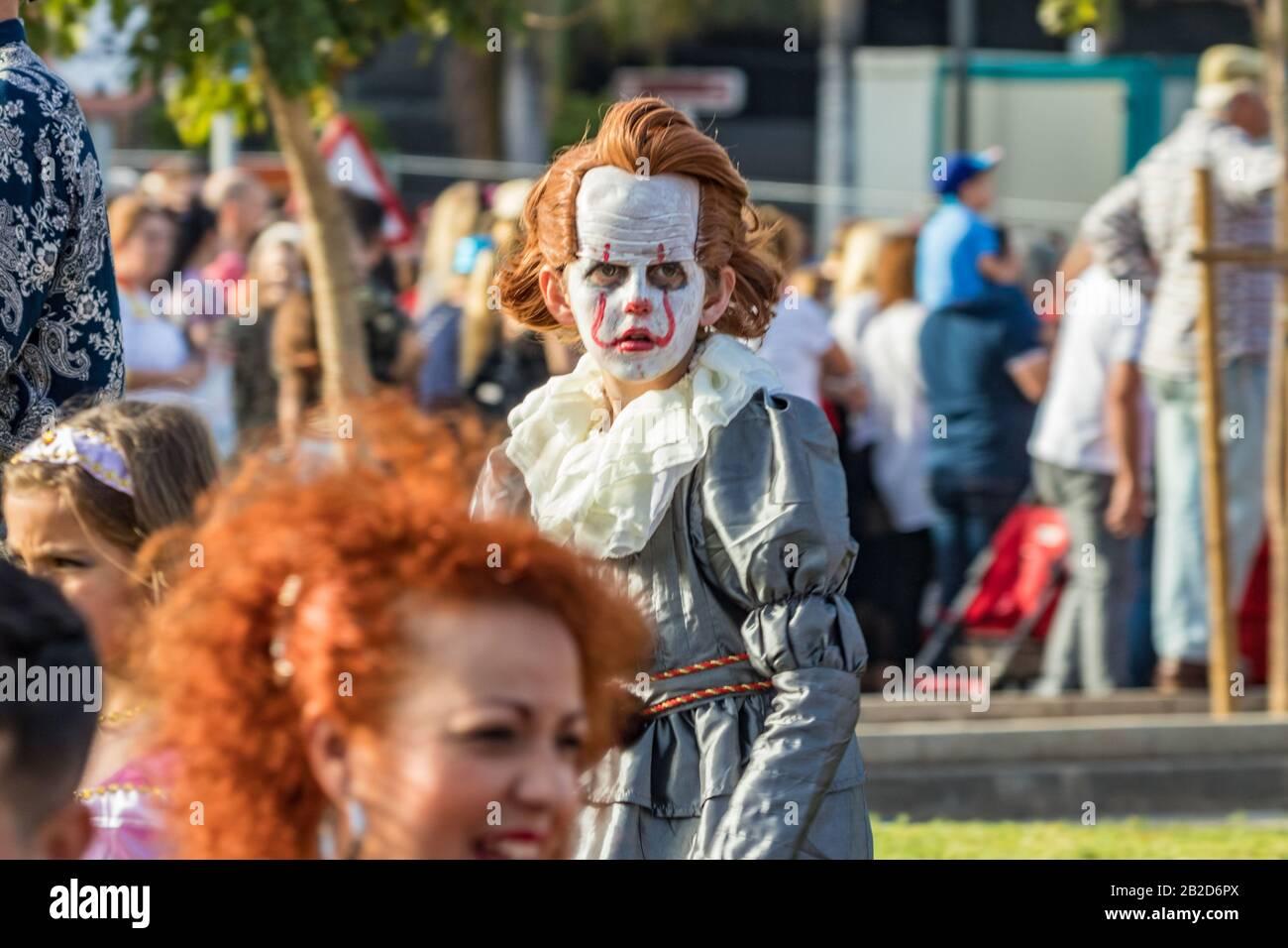 Santa Cruz Halloween Carnival 2020 SANTA CRUZ DE TENERIFE, SPAIN   FEBRUARY 25, 2020: Around the Coso