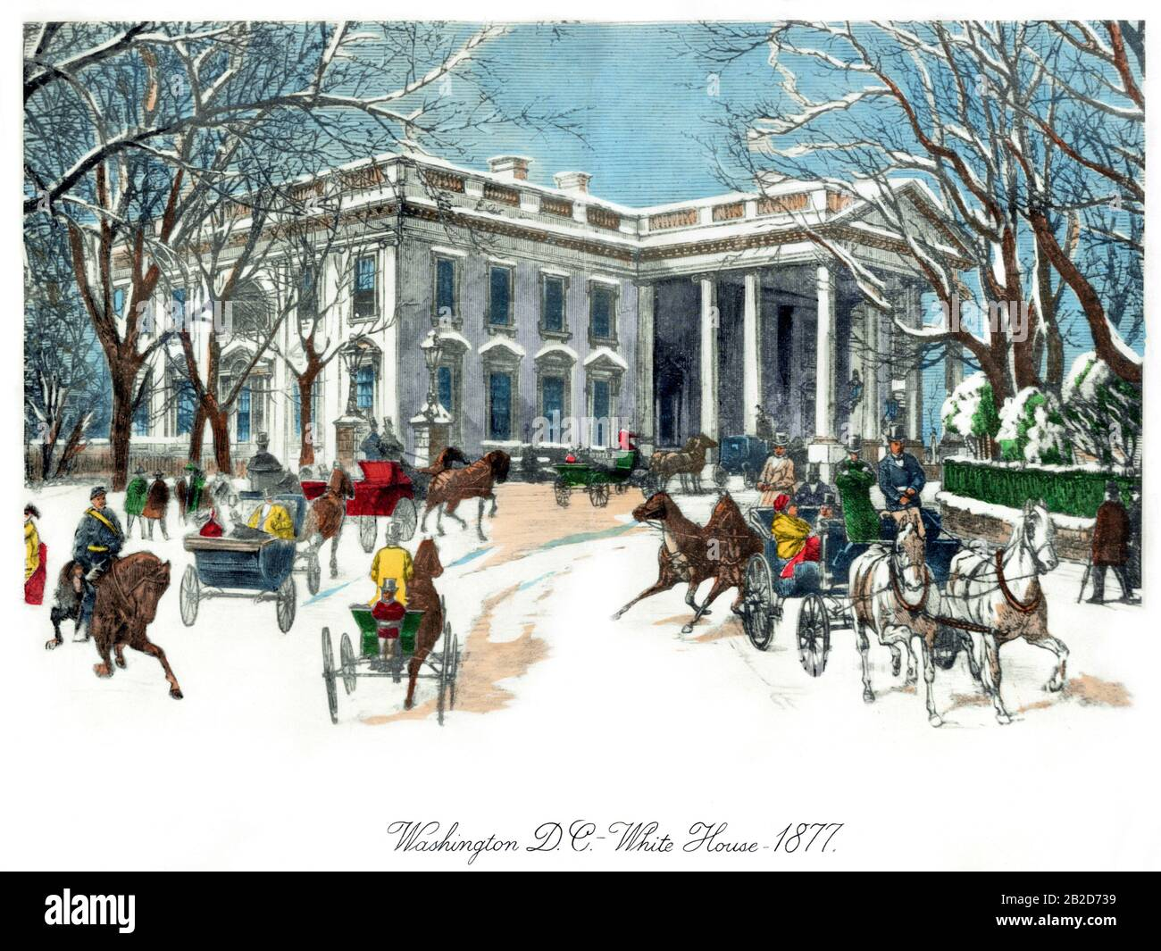 SHOVELING SNOW FROM SIDEWALK WINTER SKETCHES OF 1877