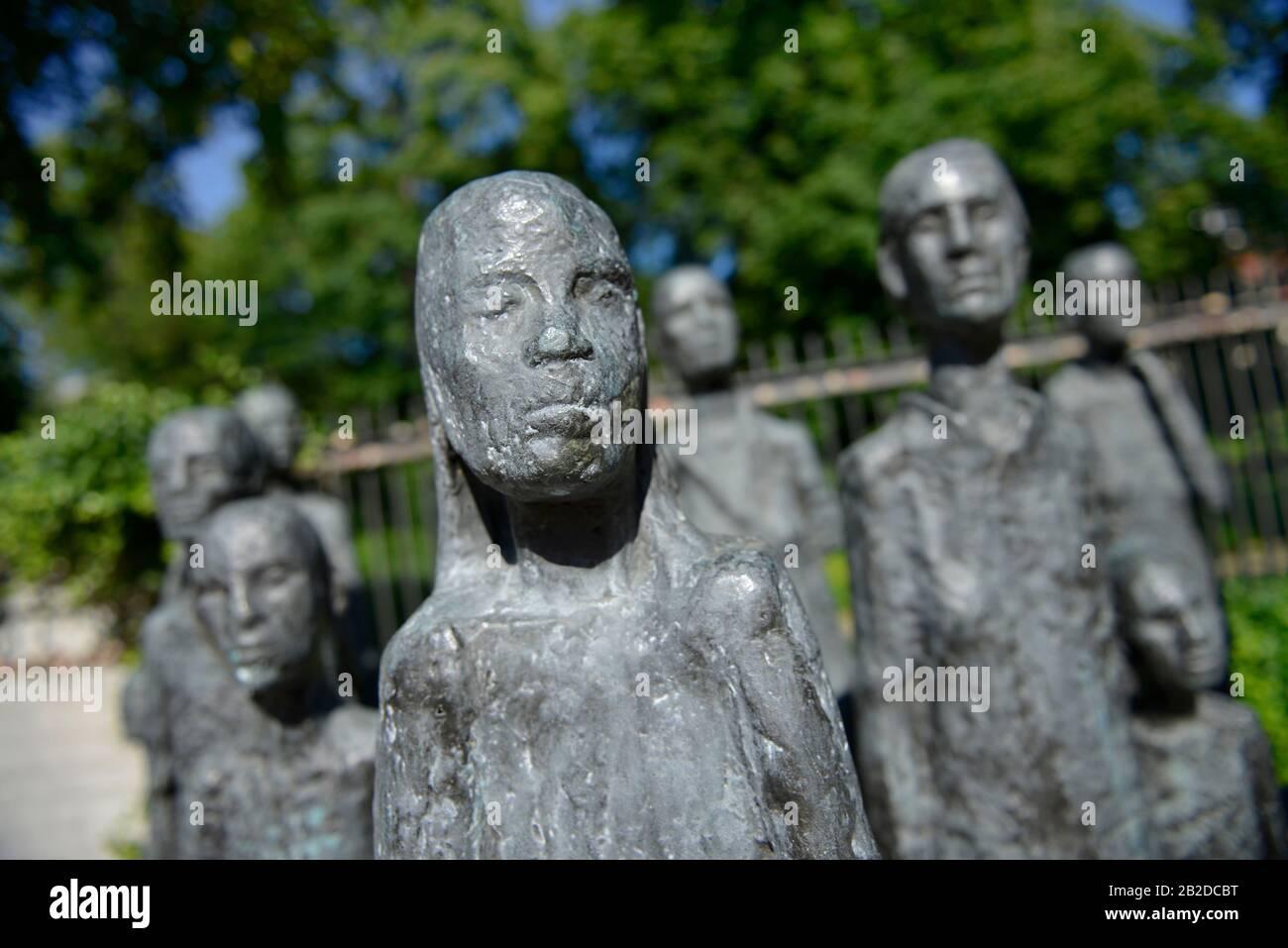 Skulptur ´Jüdische Opfer des Faschismus´, Grosse Hamburger Strasse, Mitte, Berlin, Deutschland Stock Photo