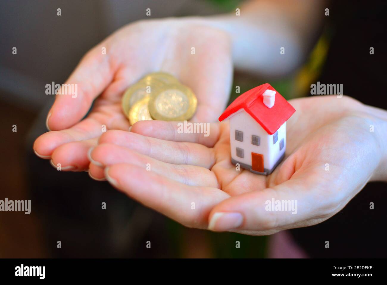 Lack of money to buy your own home Stock Photo