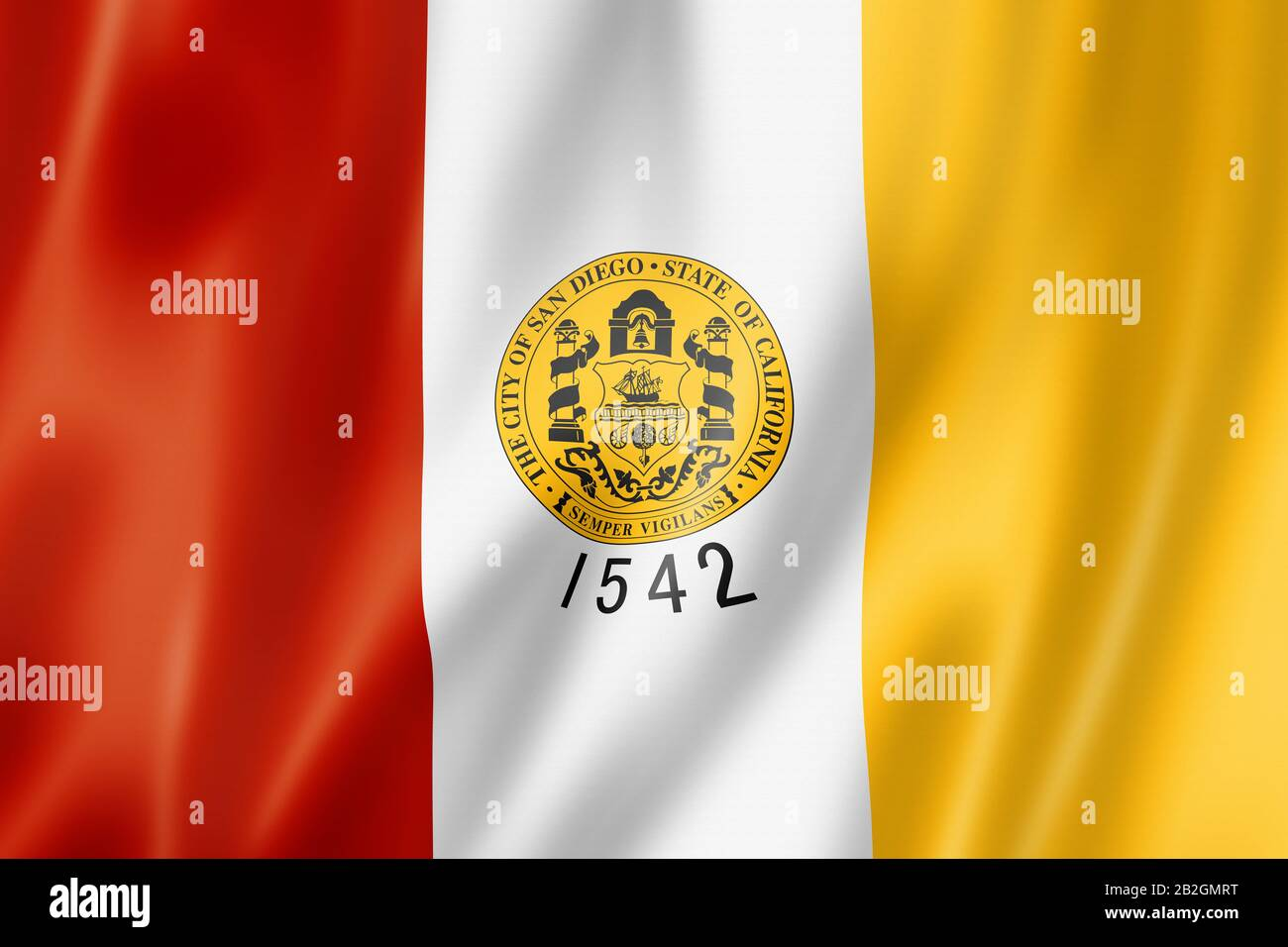 San Diego City Flag California United States Waving Banner Collection 3d Illustration Stock Photo 345804252 Alamy