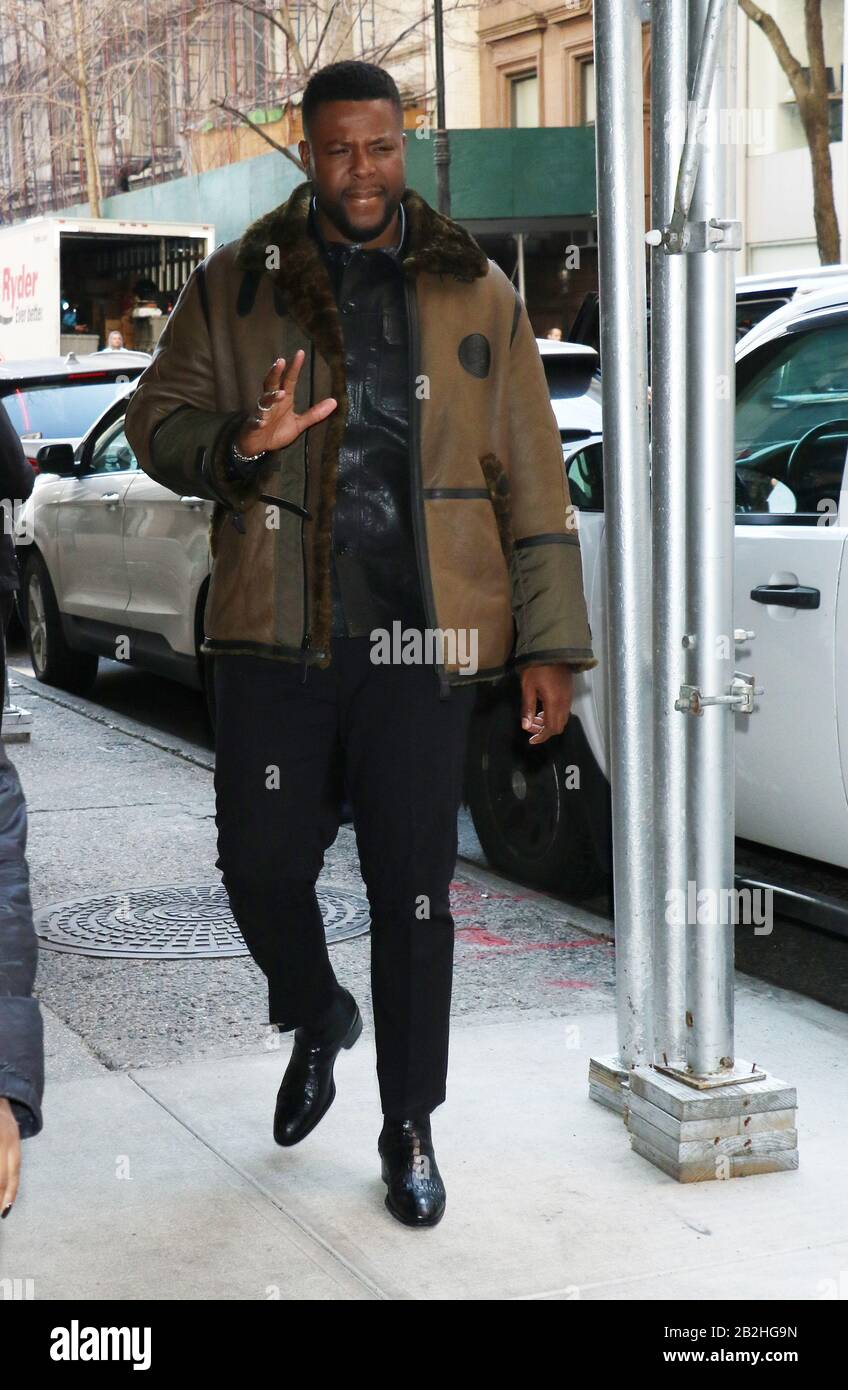 March 02 2020 Winston Duke At Buzzfeed Talk About Spenser Confidential In Newyork March 02 2020 Credit Rw Mediapunch Stock Photo Alamy