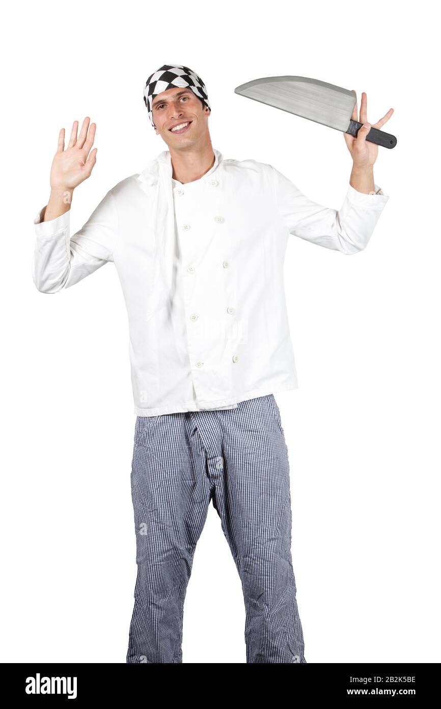 Plain White Christmas Xmas Novelty Fncy Dress Costume Chefs Cook Hat