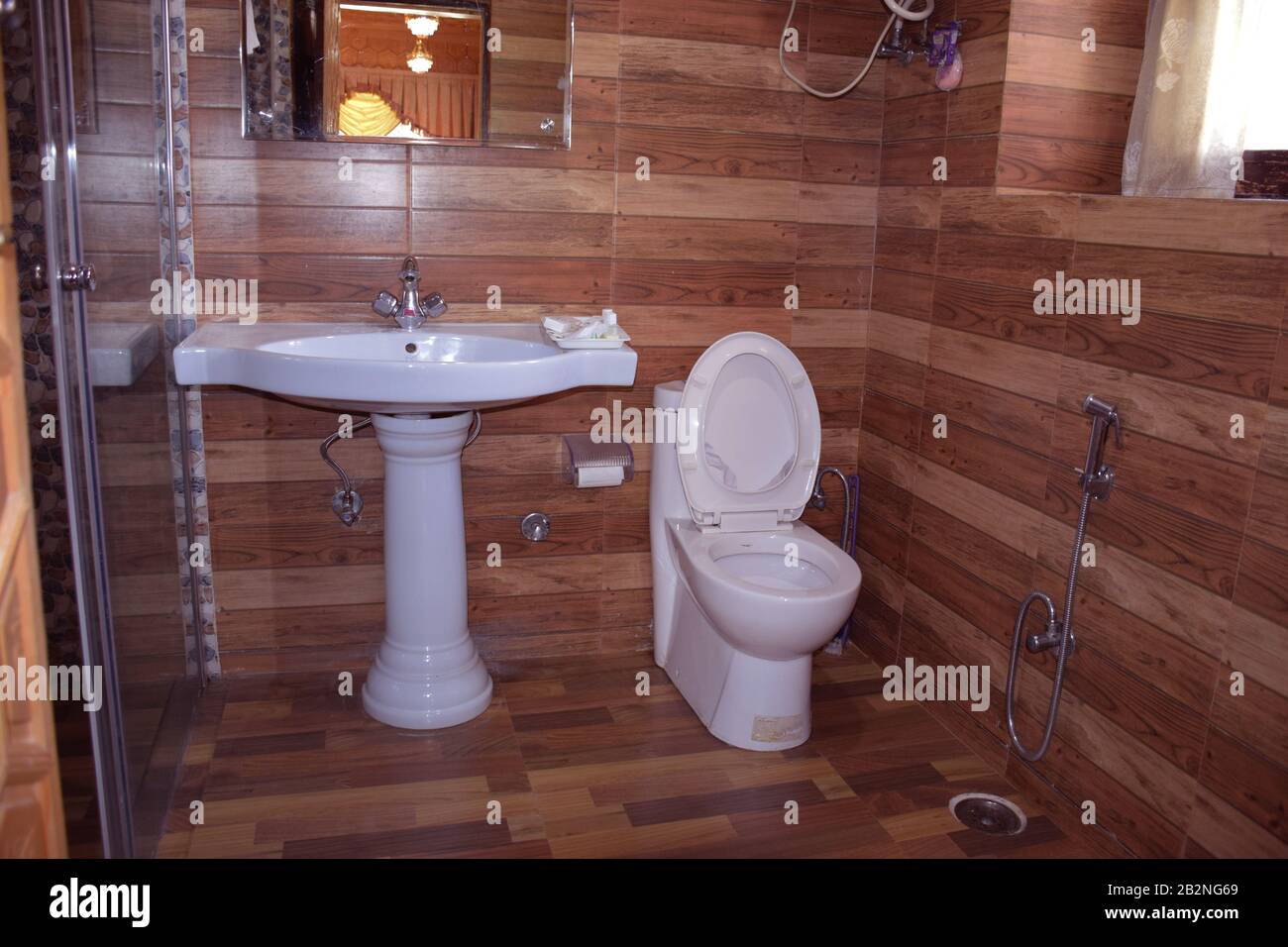 A Hotel Toilet Washroom Lavatory Or Loo In India Stock Photo Alamy