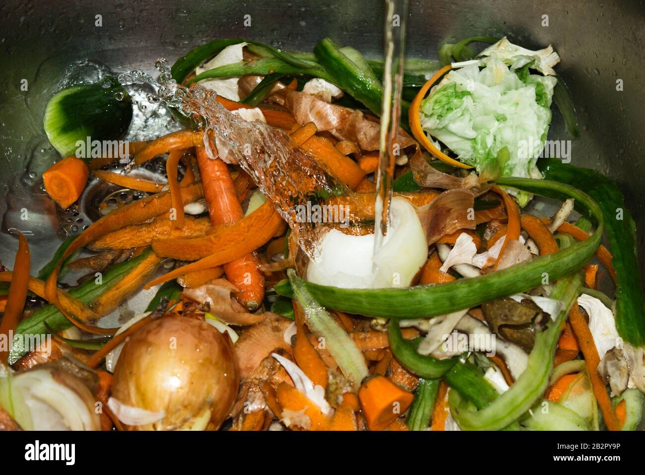Kitchen waste vegetables Stock Photo