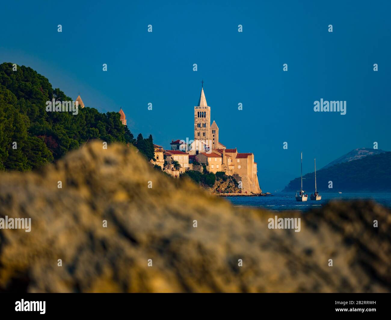 Town Rab island Rab in Croatia Stock Photo