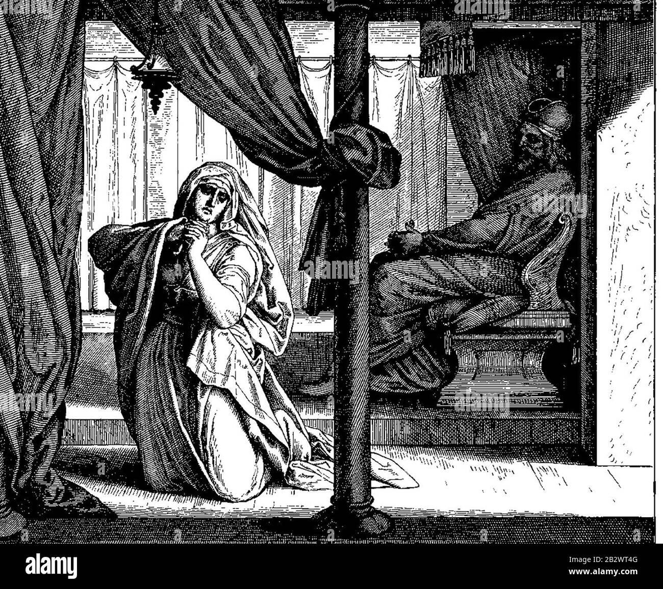 """Woodcut for """"Die Bibel in Bildern"""", 1860. Julius Schnorr von Carolsfeld Stock Photo"""